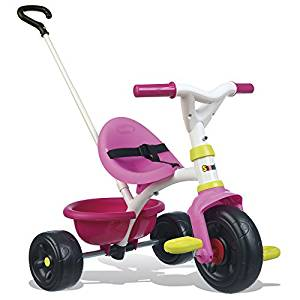 Le tricycle Be Fun de Smoby existe en rose ou en bleu.