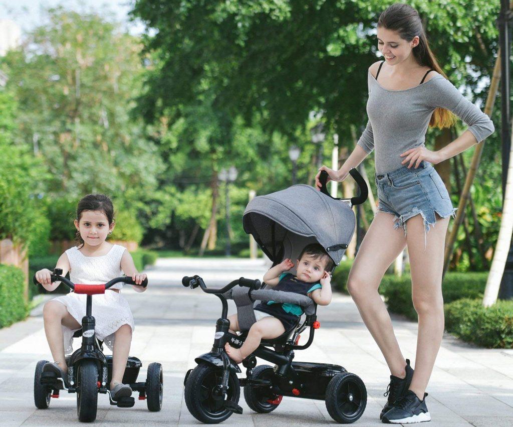 Tricycle pour bébé qui est évolutif