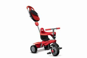 Le tricycle Smart trike Breeze GL est de couleur rouge.