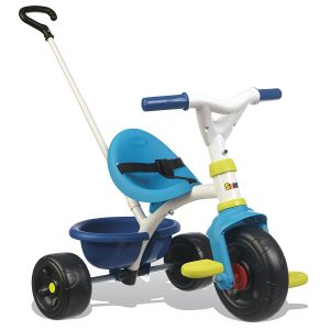 Le tricycle Smoby Be Fun existe en bleu ou rose.