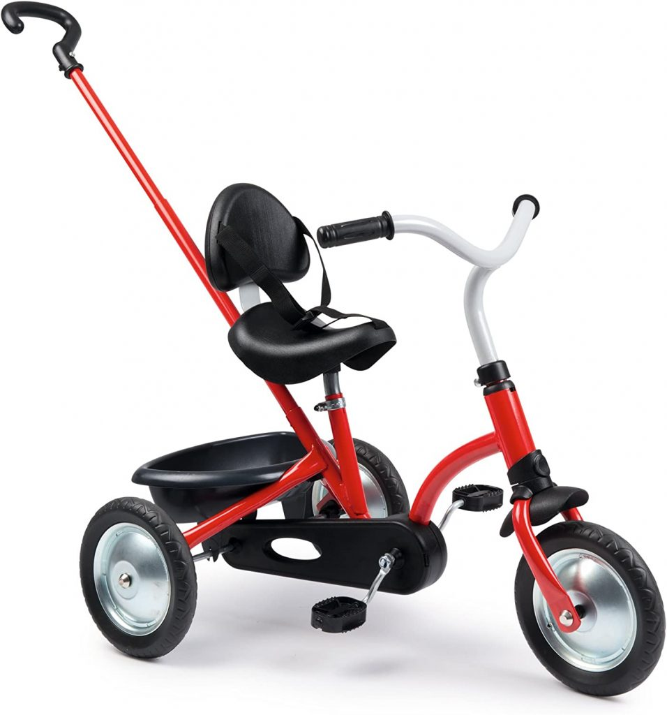 Le tricycle Zooky de Smoby a un look vintage.