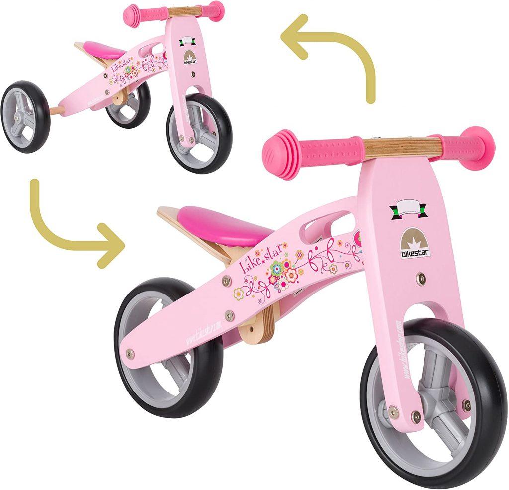 Cette draisienne fille Bikestar est de couleur rose.
