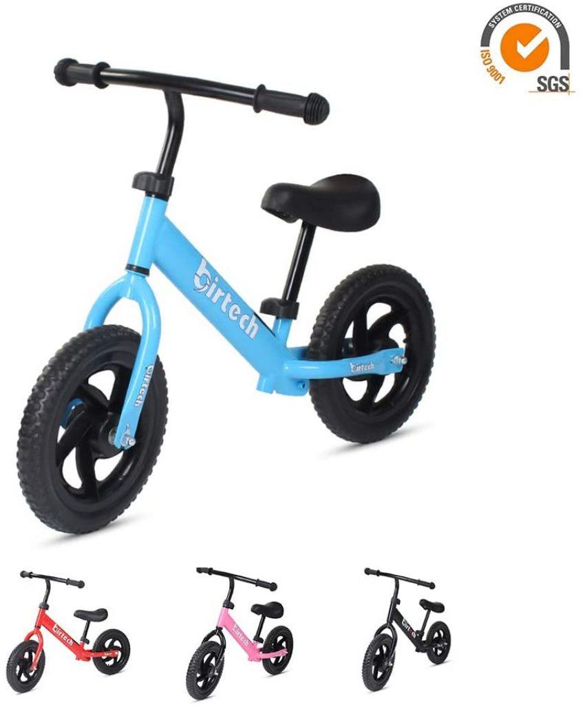 Le vélo sans pédale BIRTECH possède des pneus en mousse EVA.