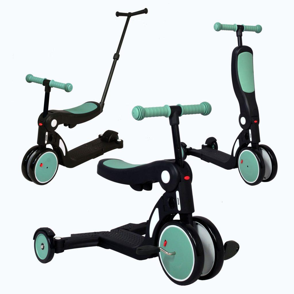 La draisienne évolutive Scootizz 5 en 1 fait notamment trottinette et tricycle.