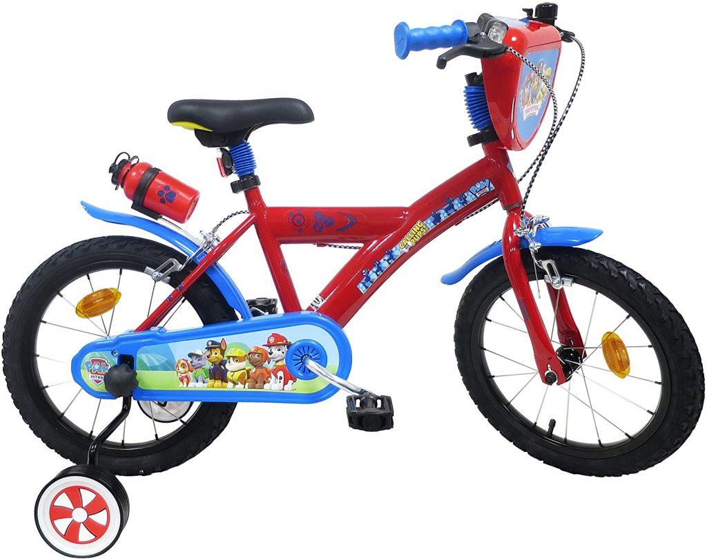 Ce vélo Pat Patrouille 16 pouces est multicolore.
