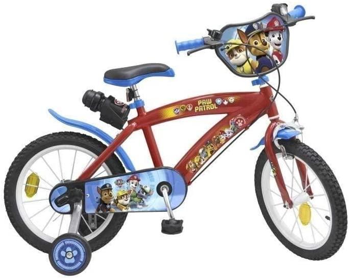 Ce vélo Pat Patrouille 14 pouces a une sonnette.