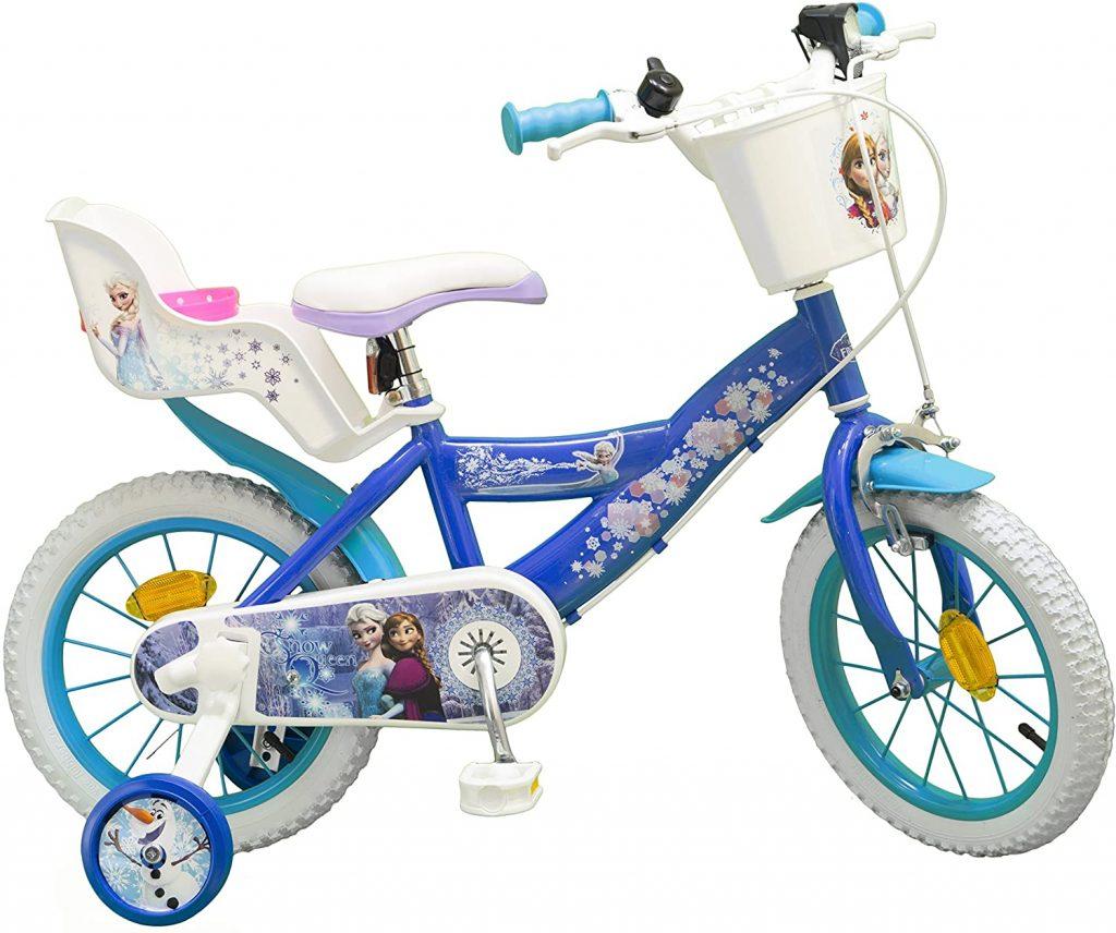 Le vélo la reine des neiges 14 pouces est idéal pour une petite fille fan de Frozen.