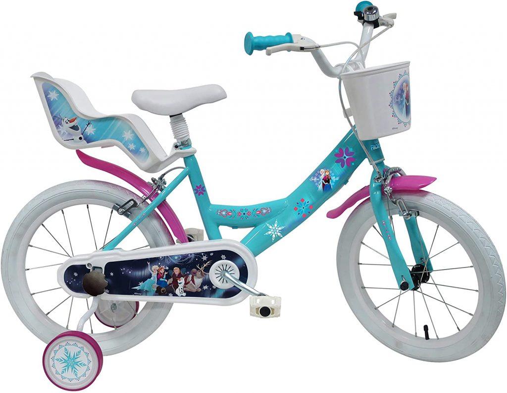 Le vélo la reine des neiges 16 pouces a un porte poupée.