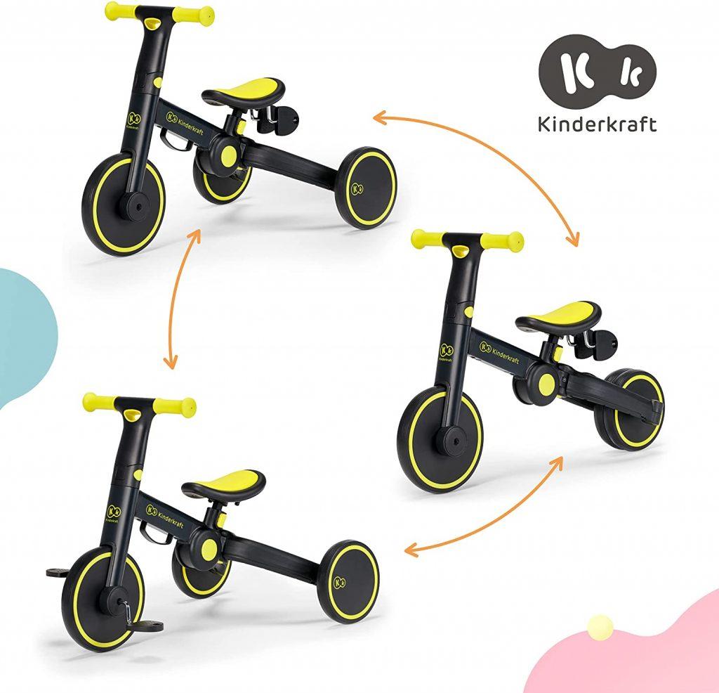 Ce tricycle 4tike Kinderkraft fait notamment draisienne.