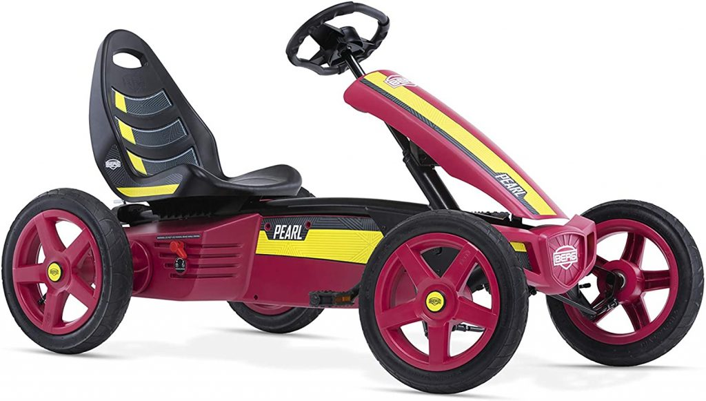 Le kart BERG Rally PEARL convient de 4 à 12 ans.