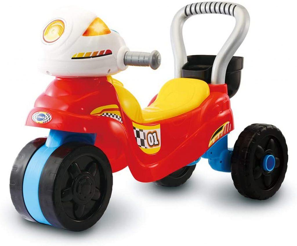 Ce porteur moto Vtech est un jouet 3 en 1.