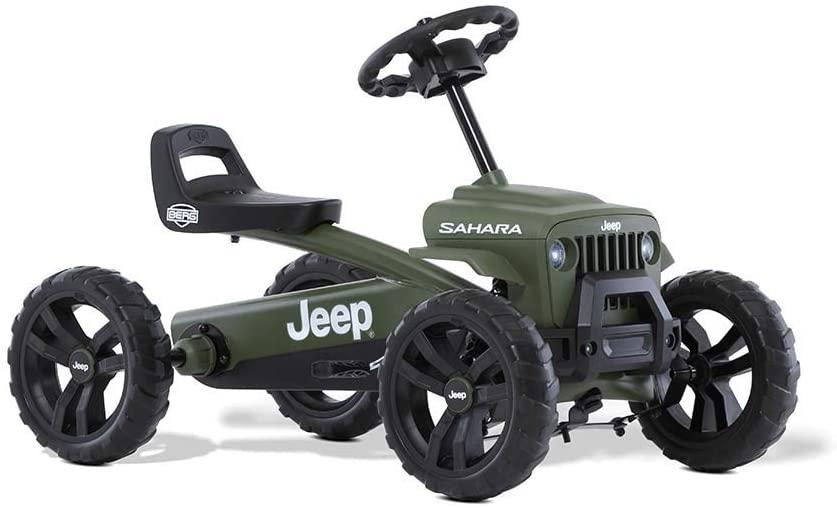 Ce kart Berg Buzzy Jeep Sahara avance grâce à des pédales.