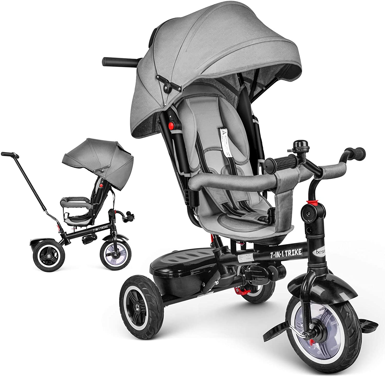 Le tricycle évolutif Besrey a un siège rotatif.