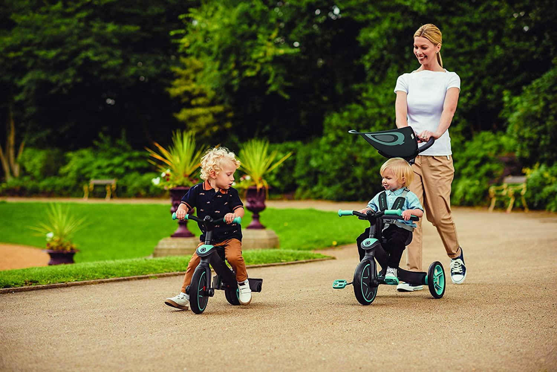 Le tricycle évolutif Globber 4 en 1 existe en plusieurs coloris.